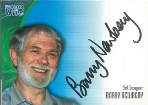 Doctor Who  BARRY NEWBERY as Set Designer  AUTOGRAPH CARD AU18, Strictly Ink -  10641